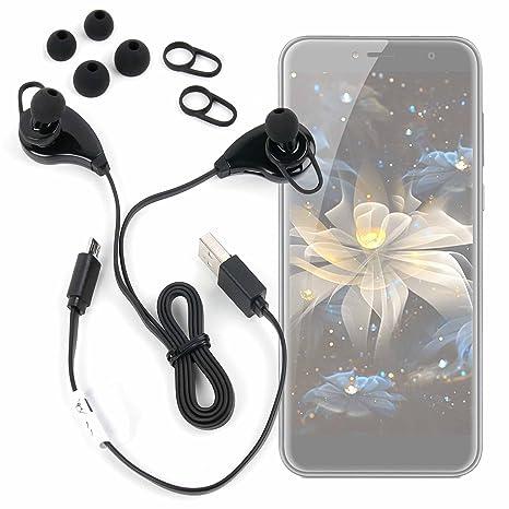 DURAGADGET Auriculares inalámbricos en Color Negro para Smartphone Cubot H3/ OPPO A3