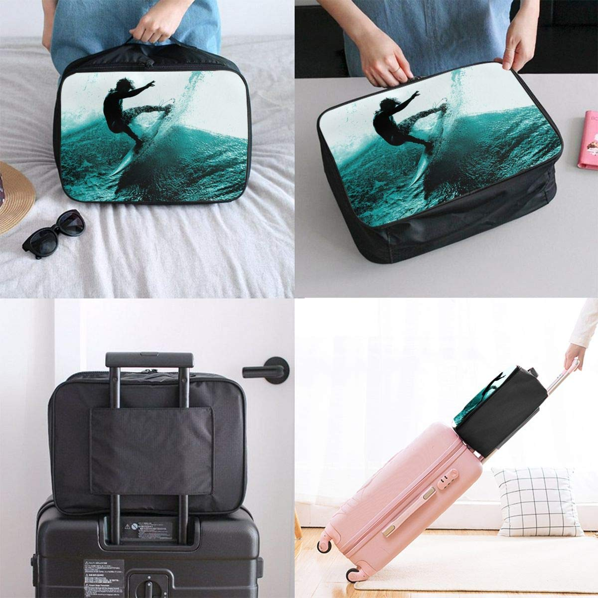 Lightweight Large Capacity Portable Duffel Bag for Men /& Women Summer Surfing Fun Travel Duffel Bag Backpack JTRVW Luggage Bags for Travel