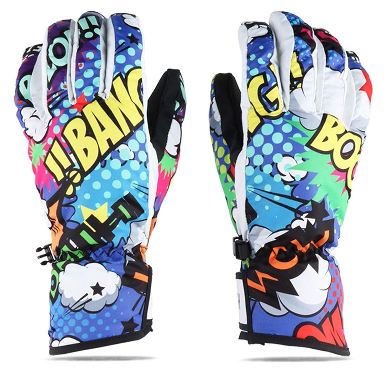 Adisaer Skihandschuhe Drei Finger Im Freien Kletternde Herren Damen Erwachsenen Winter Winddichte Wasserdichte Warme Handschuhe Größe