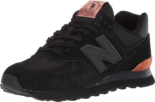 new balance 574 nero rosa