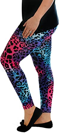 Womens Leopard Pattern Animal Wild Animal Workout Running Leggings Tummy Control Stretch Yoga Pants with Pockets