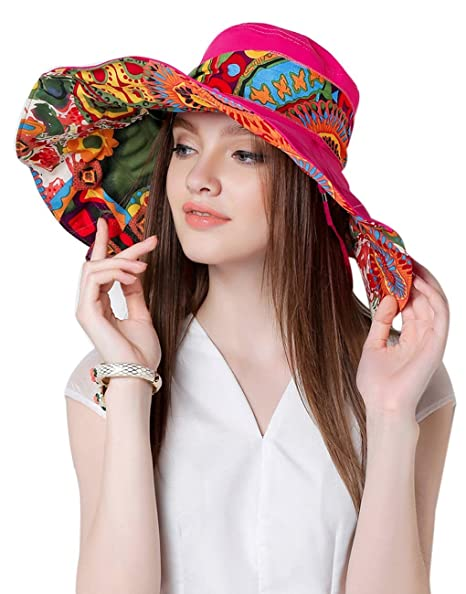 027565358e2 Image Unavailable. Image not available for. Color  WITERY Floppy Summer  UPF50+ Foldable Sun Beach Hats Accessories Wide Brim for Women