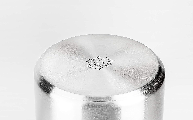 Vier OI30 Olla Diámetro 30cm, Acero Inoxidable 18/10