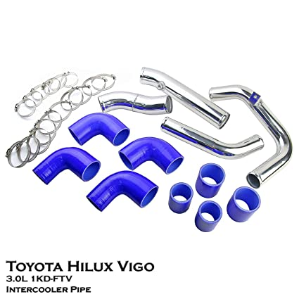Amazon.com: Aluminium Turbo Intercooler Piping Direct Bolt Fit For Toyota Hilux Vigo KUN16R 3.0L 1KD-FTV Diesel: Automotive