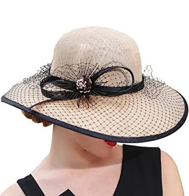 Hats Champagne Brown 3 Layers Sinamay Kentucky Derby Hat Sun Hats Church brown