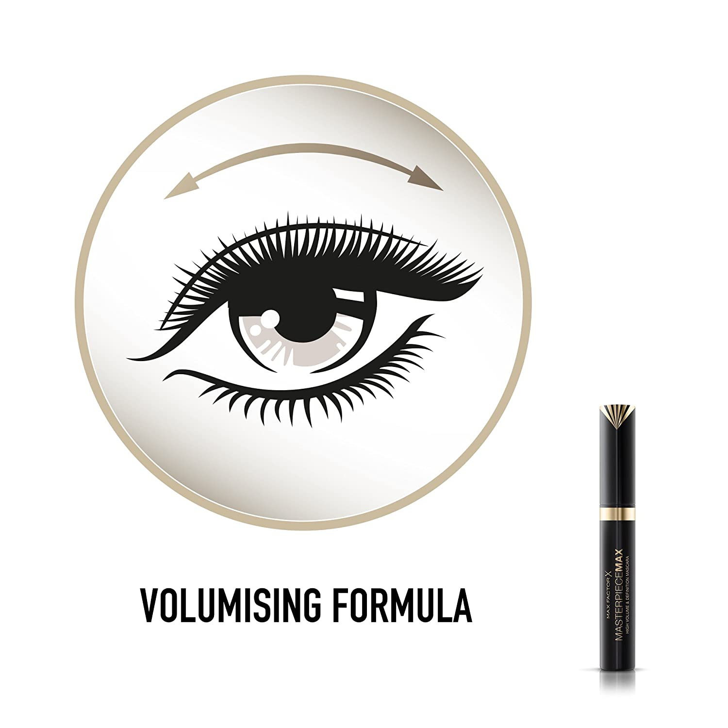 6e003257dab Max Factor Masterpiece Max High Volume and Definition Mascara, Volume  Boosting Formula for Eye-opening Effect, 001 Black, 7.2 ml: Amazon.co.uk:  Beauty