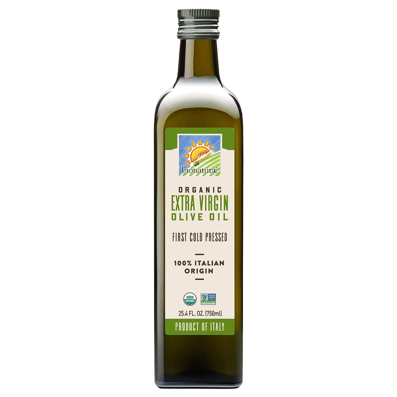 Bionaturae Olive Oil Extra Virgin | Organic Olive Oil | Non-GMO | USDA Certified Organic | Made In Italy | 100% Authentic Italian Olive Oil | 25.4 fl oz (750 ml)