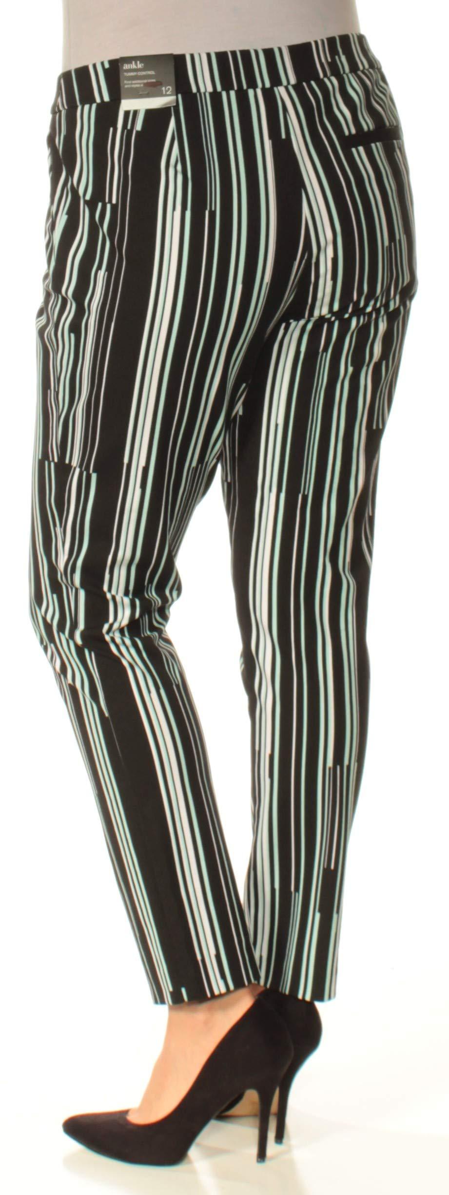 Alfani Womens Striped Ankle Skinny Pants Black 14 by Alfani (Image #2)
