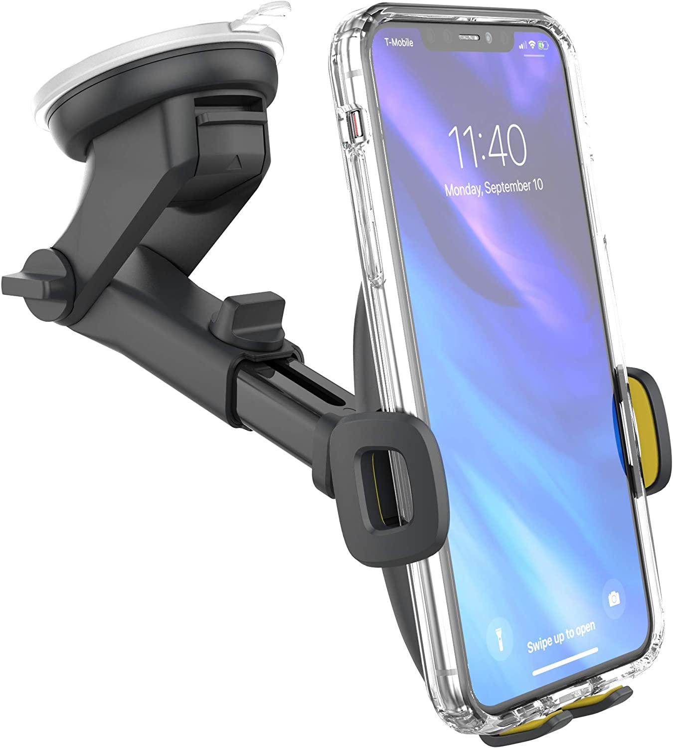 Dark Grey Car Phone Holder for Car CD Mount Holder Phone Stand NABEE Phone Grip Smart Holder Smartphone Accessories Compatible with Cell iPhone 11 Pro Xs Max XR X 8 7 6 6s Plus Samsung Galaxy