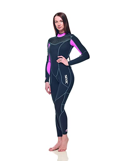 10c9cb6eaf Seac Sense 3mm High Stretch Comfortable Neoprene Full Wetsuit Mens Women  for Scuba