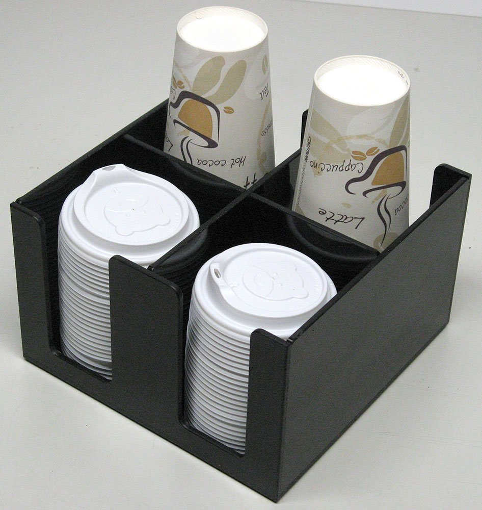 Small 4 Slot Holder for Condiments, Cups or Lids (6003)