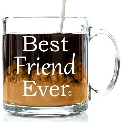 Amazon.com: Best Friend Ever Glass Coffee Mug 13 oz - Unique ...