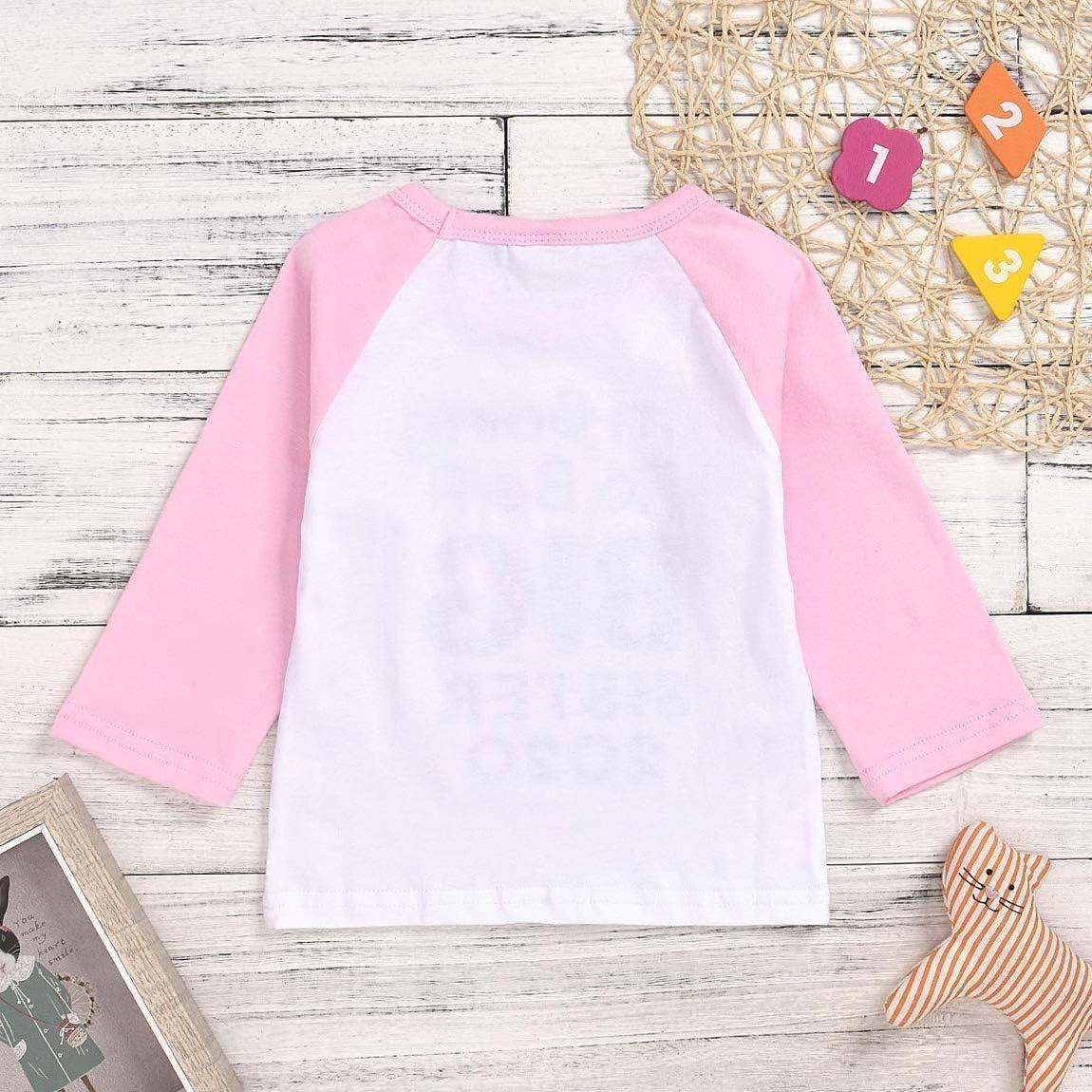 LIKEVER T-Shirt /à Manches Longues pour b/éb/é Motif 2020 I am Going to Be A Big Sister//Big Brother