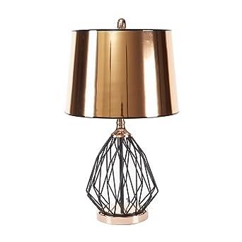 Silverwood CPLT1484 Geoff Geometric Jaula lámpara de mesa con ...