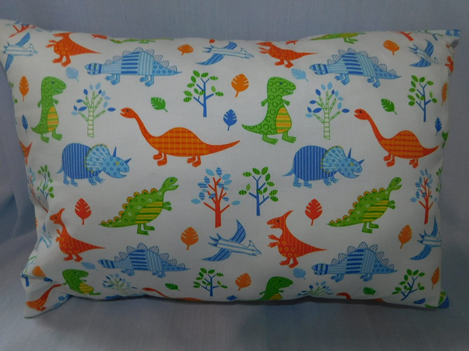 Dinosaurs, alligator, Woodland forest animals PILLOWCASE with pillow, Size 13