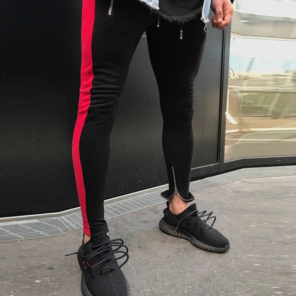 YOcheerful Men Sweatpants Men Sportswear Pants Trousers Boy Black Jogger Pants Loose Fit Sports Pants Training Pant