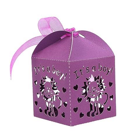 STOBOK Cajas de Caramelos de Papel Hueca para Bombones Dulce Chocolate Cajas de Regalo para Bautizo