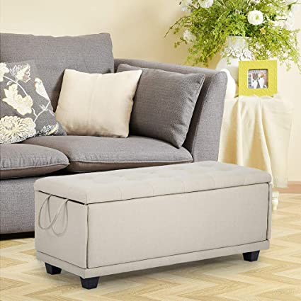 Amazon.com: Storage Ottoman Bench Footrest Bench Stool Bedroom Bench ...