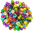 Wiz Dice Series II 100+ Pack of Random Polyhedral Dice - 15 Guaranteed Sets of Random Colors - Tabletop Roleplaying Fantasy RPG Gaming Novelty Accessories