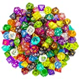 Wiz Dice Series II 100+ Pack of Random Polyhedral Dice - 15 Guaranteed Sets of Random Colors
