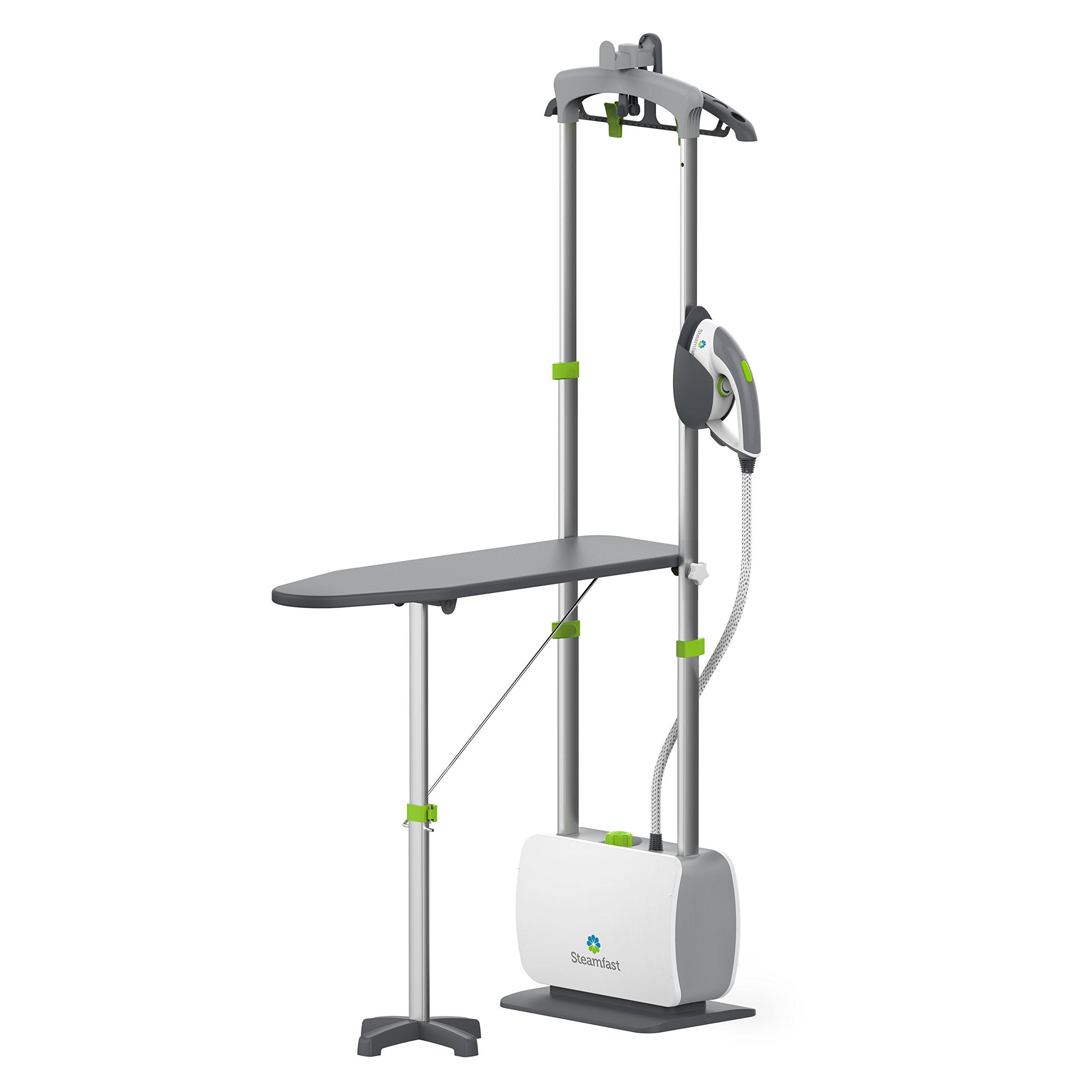Steamfast SF-580 Professional Dual-Use Iron and Garment Steamer with 33.8-Ounce Water Tank, Built-In Ironing Board and Garment Hanger