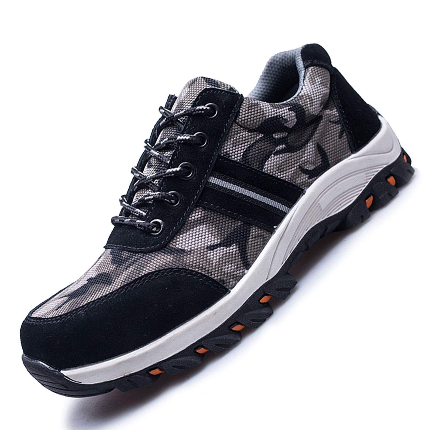e778571dc665c JACKSHIBO Steel Toe Work Shoes for Men Women Safety Shoes Breathable  Industrial Construction Shoes