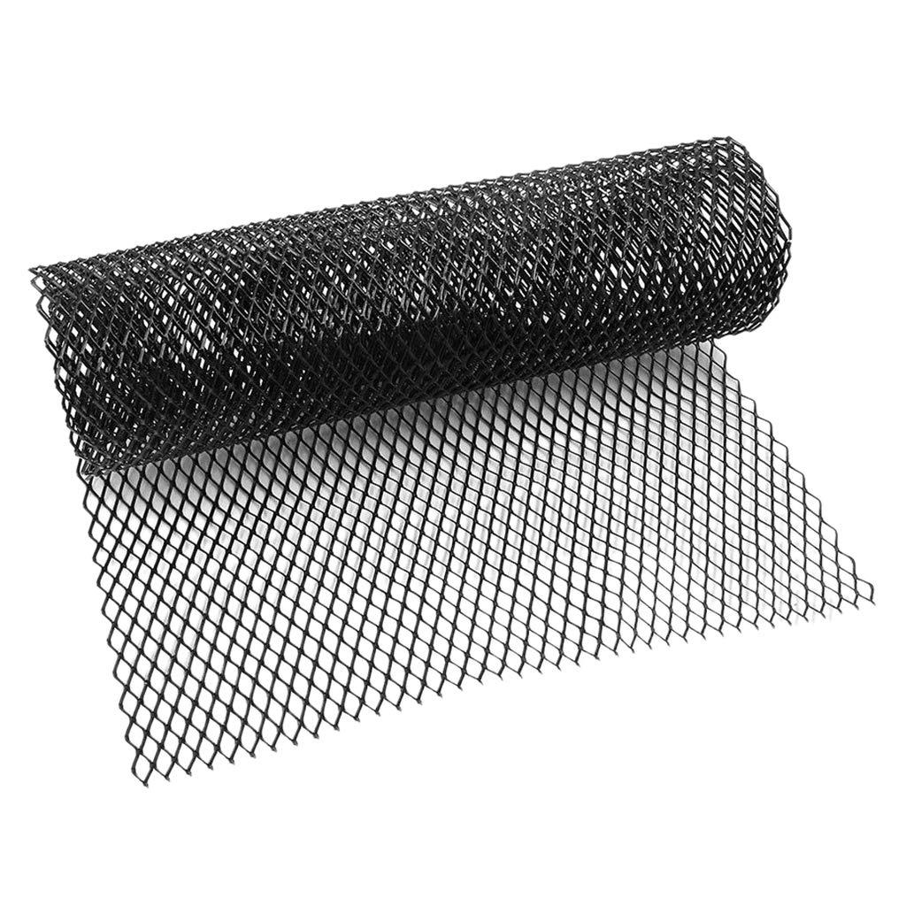 Negro 4x8mm Parrilla de Parachoques Delantero Malla Kit para Coche