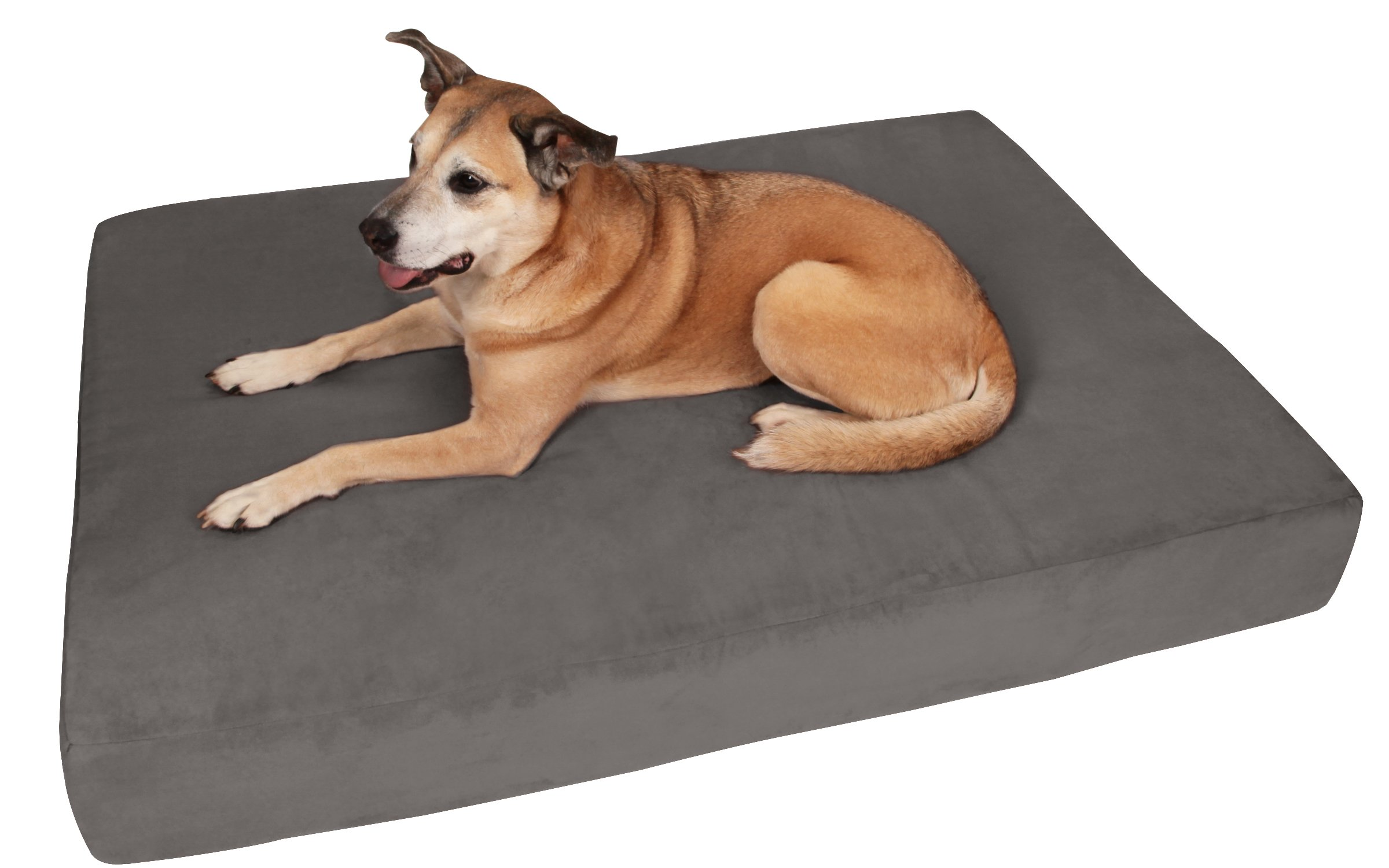 Big Barker 7'' Pillow Top Orthopedic Dog Bed - Large Size - 48 X 30 X 7 - Charcoal Gray - For Large and Extra Large Breed Dogs (Sleek Edition)