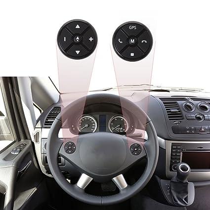 FidgetFidget Universal Car Steering Wheel DVD GPS Wireless Smart Button Key Remote Control