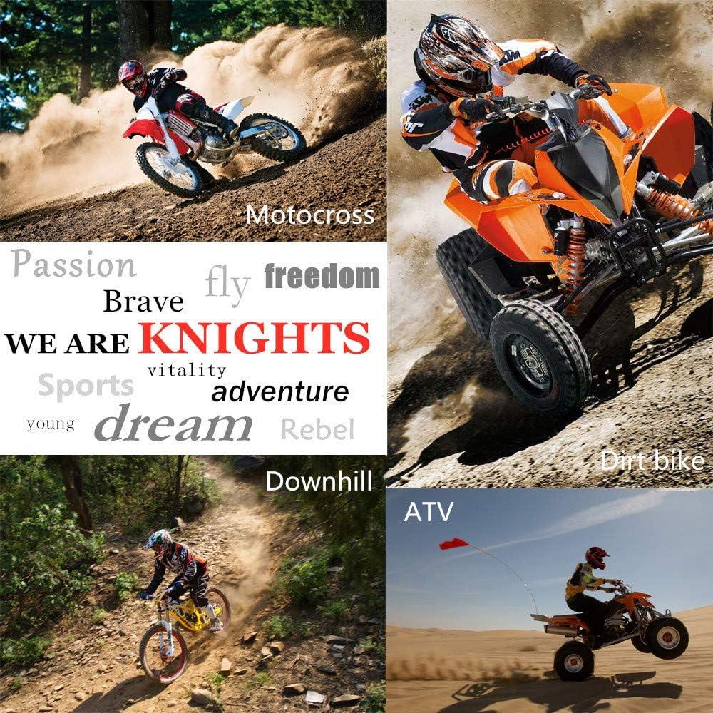 5 Pezzi//Gafas//M/áscara//Guantes//Red El/ástica S, M, L, XL Casco Motocross Nero e Viola Casco Moto Cross Ni/ño para MX Quad off Road ATV Scooter Enduro