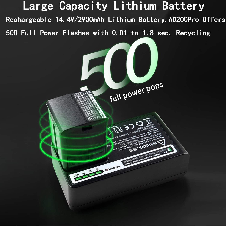 Godox AD200Pro 200ws 2.4G TTL Flash 1/8000 HSS with 14.4V/2900mAh ...