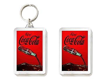 Llavero y Imán Coca Cola Botella