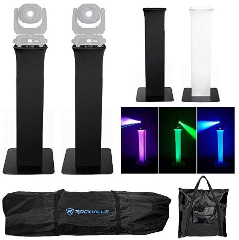 Amazon.com: 2) Rockville RTP32B Soporte de luz de cabeza de ...