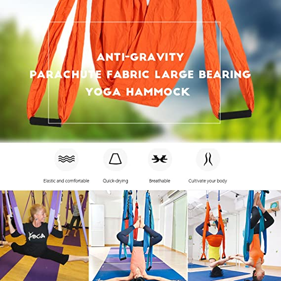 Amazon.com: Aerial yoga swing Kit, slimerence, descompresión ...