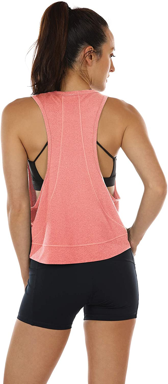 Sports Racerback Tank Tops for Women icyzone Yoga Tops Activewear Workout Clothes