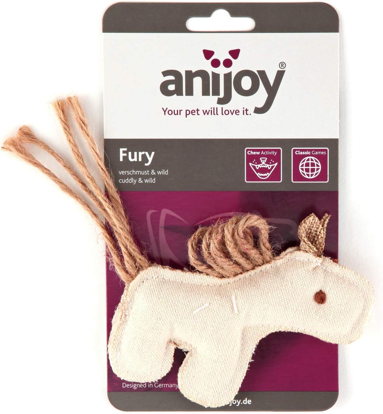 anijoy Giocattolo per Gatti Fury per Caccia e masticazione in Cotone con Imbottitura in polietilene per la Tigre di Animali Selvatici