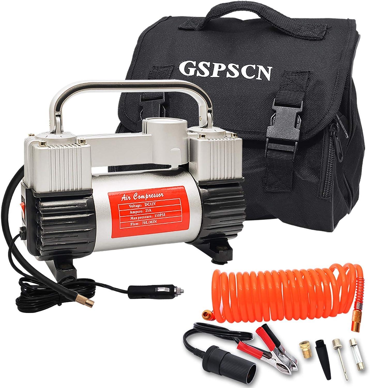 GSPSCN Silver Tire Inflator Air Compressor