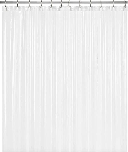 "Clear shower curtain PEVA 72/"" x 72/"" Mildew and Mold Resistant Anti-bacterial 8G"