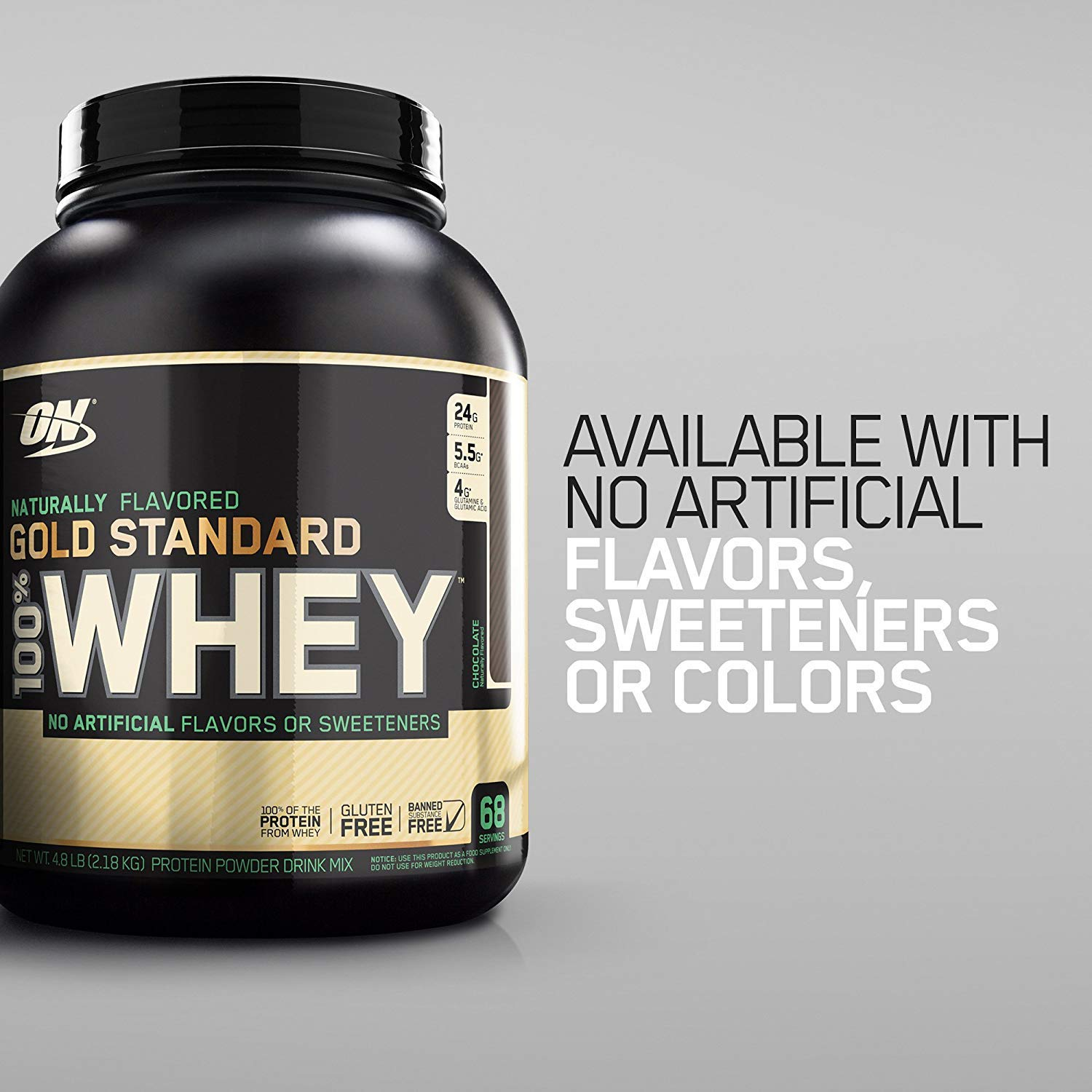 OPTIMUM NUTRITION GOLD STANDARD 100% Whey Protein Powder, Naturally Flavored, 4.8 Pound by Optimum Nutrition (Image #4)