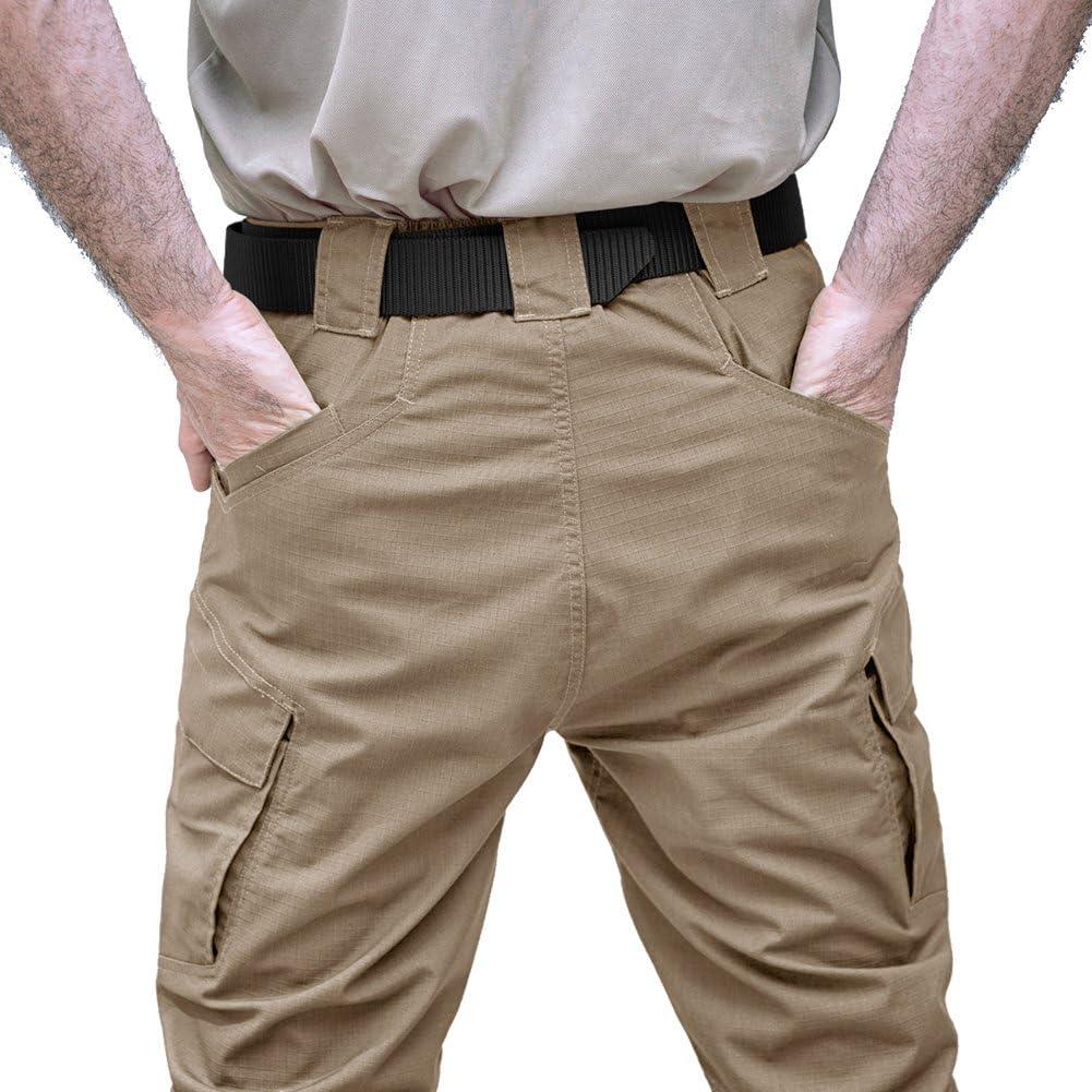 Varios Bolsillos algod/ón TACVASEN Pantalones de Senderismo para Hombre