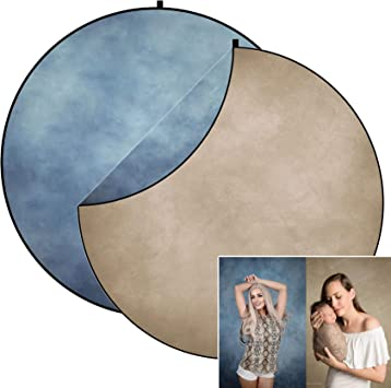 Kate 5x5ft Grey Texture Backdrop Blue Collapsible Backdrop Double-Sided Photography Backdrop Pop up Backgrounds