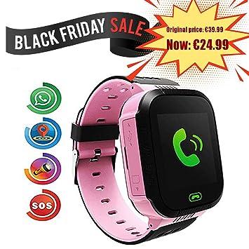 Smartwatch para Niños, con SOS Anti-Lost Alarm, GPS+LBS Localizador/Tracker, Perímetro de Seguridad, Cámera, Alarma, Linterna, Juegos Digitales, Reloj ...
