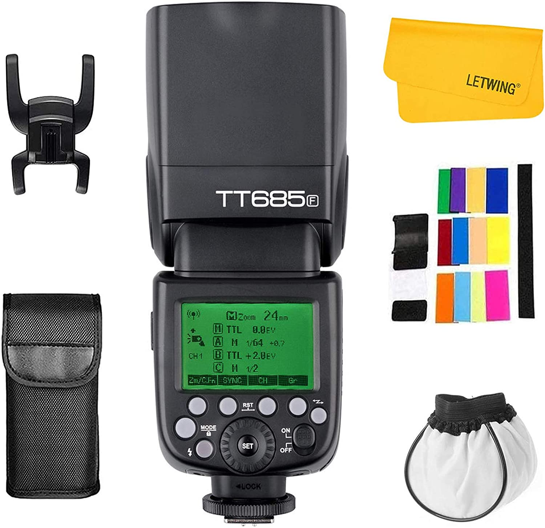 Godox Tt685f Hss Ttl Gn60 Blitzgerät Kompatibel Kamera
