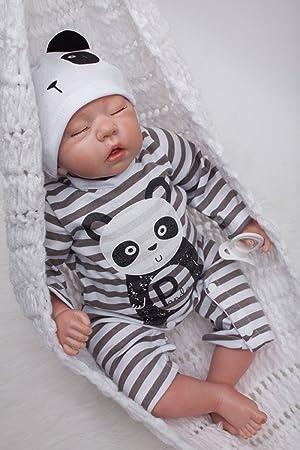 faa3a2e8c4f4d HOOMAI 55CM poupée Reborn bébé Garcon Silicone réaliste Baby Dormir Doll  Fille Jouet Pas Cher 22inch