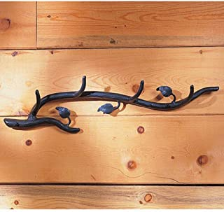product image for Stone Country Ironworks Sassafras Wall Coat Rack (Hand Rubbed Pewter)