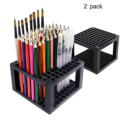 amazon com persevere 96 holes pencil holder 2 x pack plastic pen