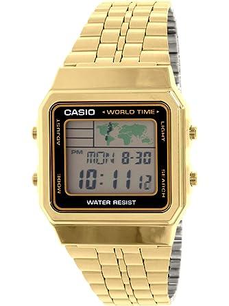 ea58b4c34 Amazon.com: CASIO Men's Digital World TIME A500WGA-1DF Stainless Steel Watch:  Casio: Watches