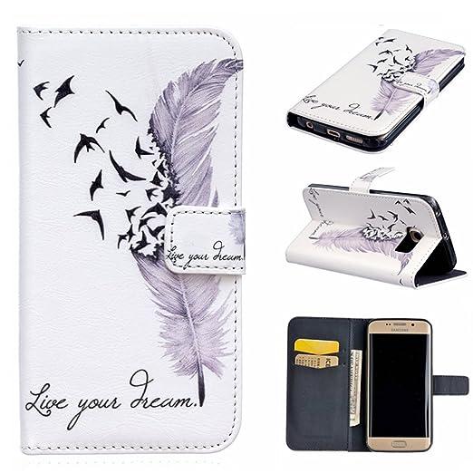 3 opinioni per Xf-fly Custodia Cassa Di Cuoio per Samsung Galaxy S6 Edge,portafoglio / wallet /