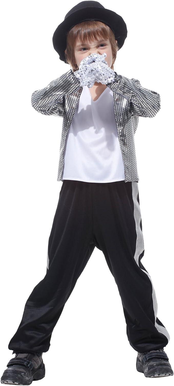 GIFT TOWER - Disfraz de Michael Jackson para niño, Disfraz de ...