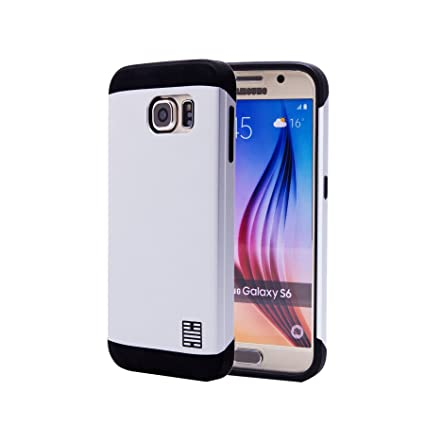32nd Funda Armadura Rigida Slim Armour con Doble Carcasa para Samsung Galaxy S6 (SM-G920) - Plata